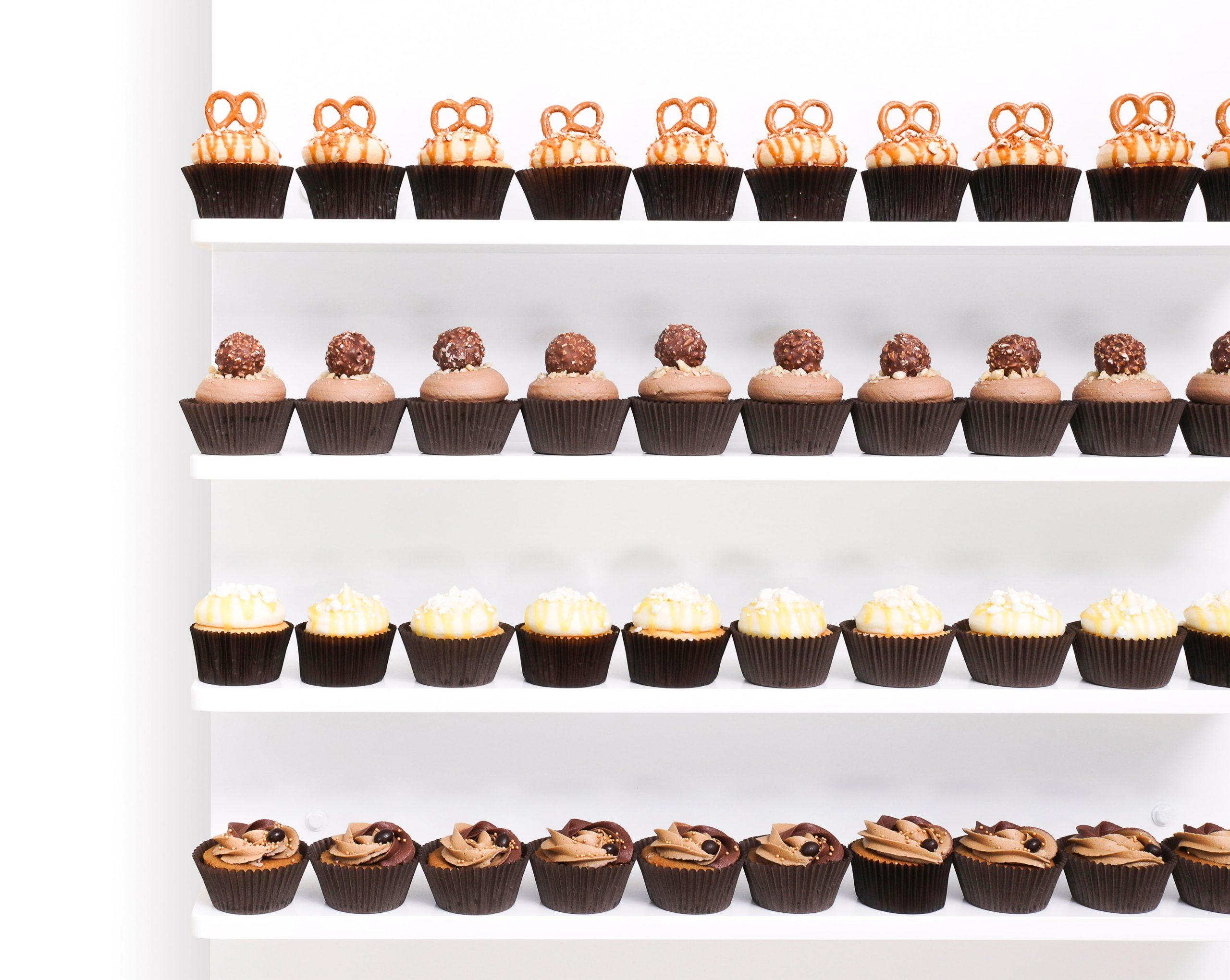 Cupcake Dessert Wall